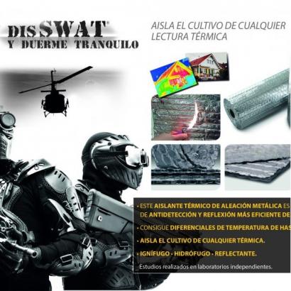 Plástico Térmico Antidetección Disswat 2 caras 25mt x118cm
