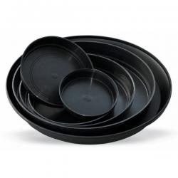 Plato redondo negro 19x4cm   PLATOS