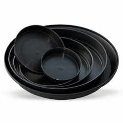 Plato redondo negro 24x4cm   PLATOS