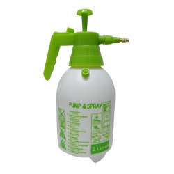 Pulverizador presión 2LT verde boquilla plástico blanco  HERRAMIENTAS