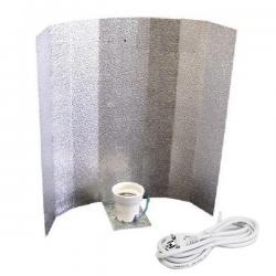 Reflector CFL Stuko con casquillo, cable y clavija  REFLECTOR ABIERTO