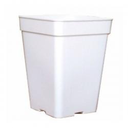 Maceta cuadrada blanca 18x18x25cm (6LT) 30uds