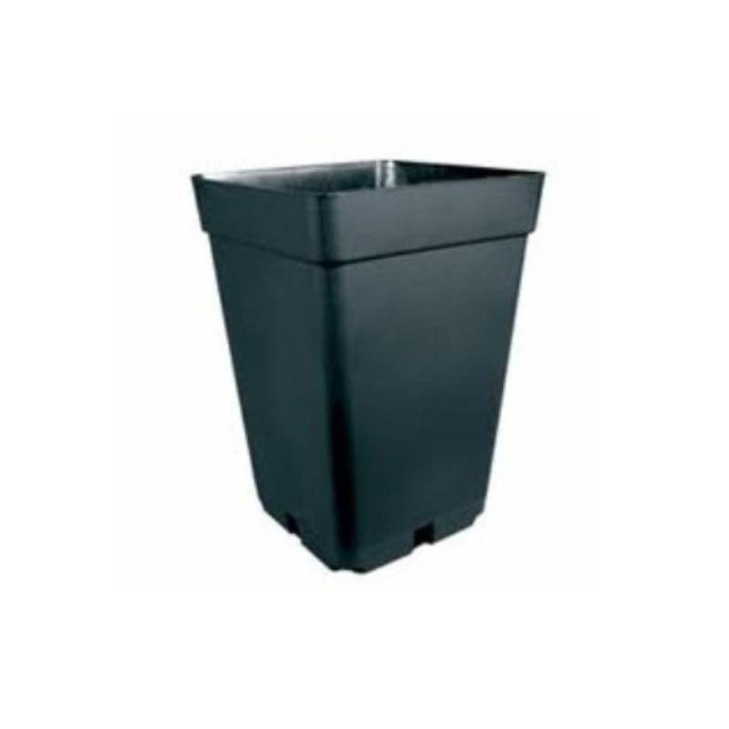 Maceta cuadrada negra 20x20x27 (7LT) MACETAS CUADRADAS
