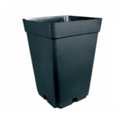 Maceta cuadrada negra 22x22x26cm (11LT) 25 uds