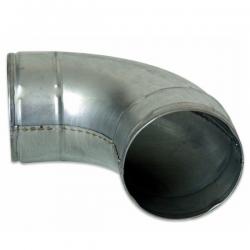 Codo curvo de metal 90º x 100mm  CODO CURVO º90