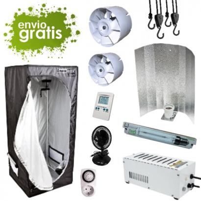 Kit armario Principiante 120x120x200cm 600w DARK BOX Cultivo con armario 600w