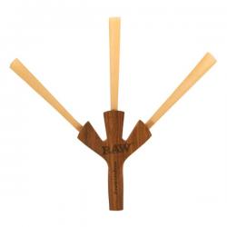 Pipa de madera Trident RAW CIG HOLDER RAW PIPAS
