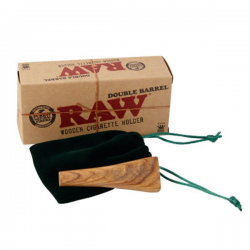 Pipa de madera Double Barrel King Size RAW RAW PIPAS