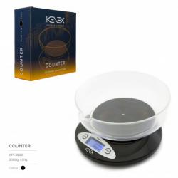 BASCULA KENEX COUNTER SCALE 0,1 / 3000kg  0.1GR