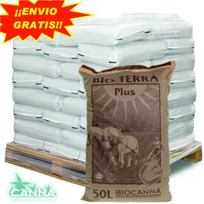 Sustrato BioCanna Terra Plus 50lt (palet 60 sacos ) CANNA SUSTRATO ENRIQUECIDO