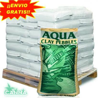 Arcilla Expandida Aqua Clay 45LT Canna ( PALET 55 SACOS ) CANNA DRENAJE Y AIREACIÓN