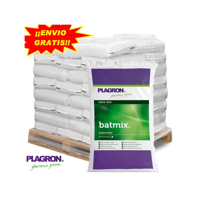 Sustrato Bat Mix 50lt Plagron (PALET 55 SACOS) PLAGRON SUSTRATO ENRIQUECIDO