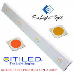 luminaria LED 200w Citiled PRB + Prolight Opto 3000k (CRI80) (barra 1mt)