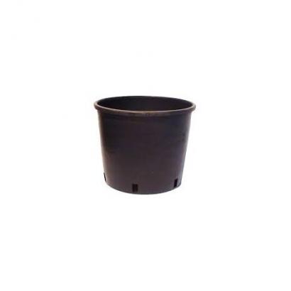 Maceta redonda negra inyección 35 x 32cm 24lt