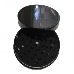 Grinder Plástico Grande Negro Opaco 10cm