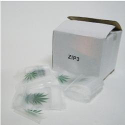 Bolsa Zip 7x10cm 100bolsas (transparente+hoja)