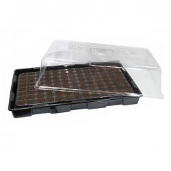 Kit Propagador Plastico Blando y Bandeja Plugins 104 Alveolos  SEMILLEROS