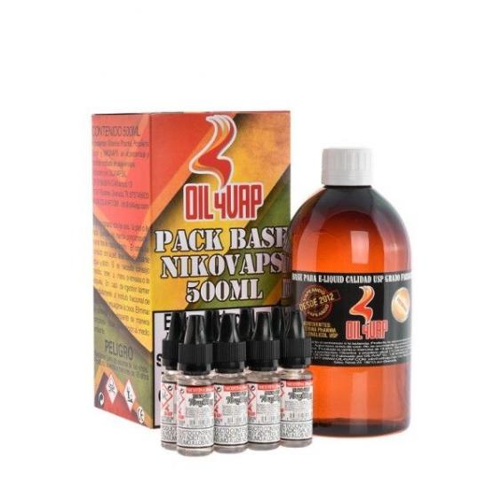 Pack Base VPG y nicokits 50pg/50vg 3mg 500ml Oil4vap  BASES