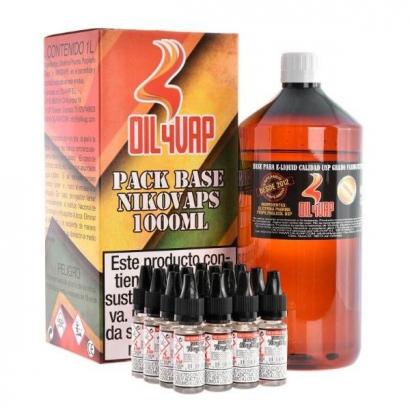Pack Base VPG y nicokits 60pg/40vg 3mg 1lt Oil4vap BASES
