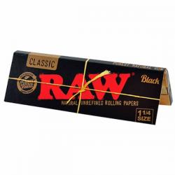 Papel Raw 1 1/4 Black