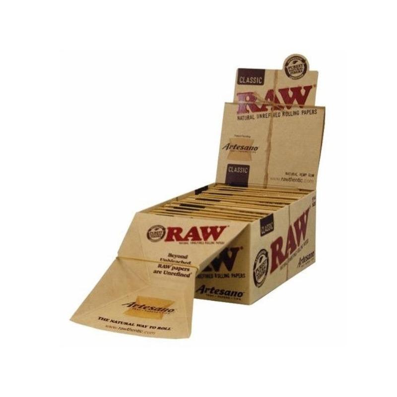 Caja RAW Artesano Orgánico 1 1/4 (15 unidades) RAW PAPEL 1/4