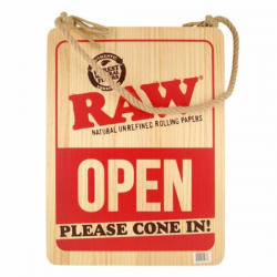 Cartel RAW Madera Please Cone In