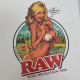 Pegatina RAW Girl RAW MERCHANDISING