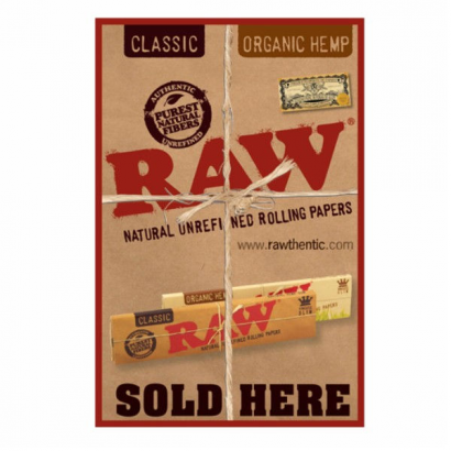 Pegatina RAW Sold Here RAW MERCHANDISING