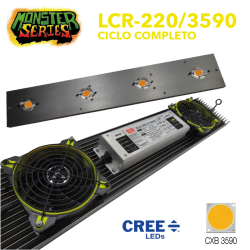 Luminaria LED 220w grow CXB3590 (Monster Series)