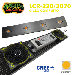 Luminaria LED 220w grow CXB3070 (Monster Series)