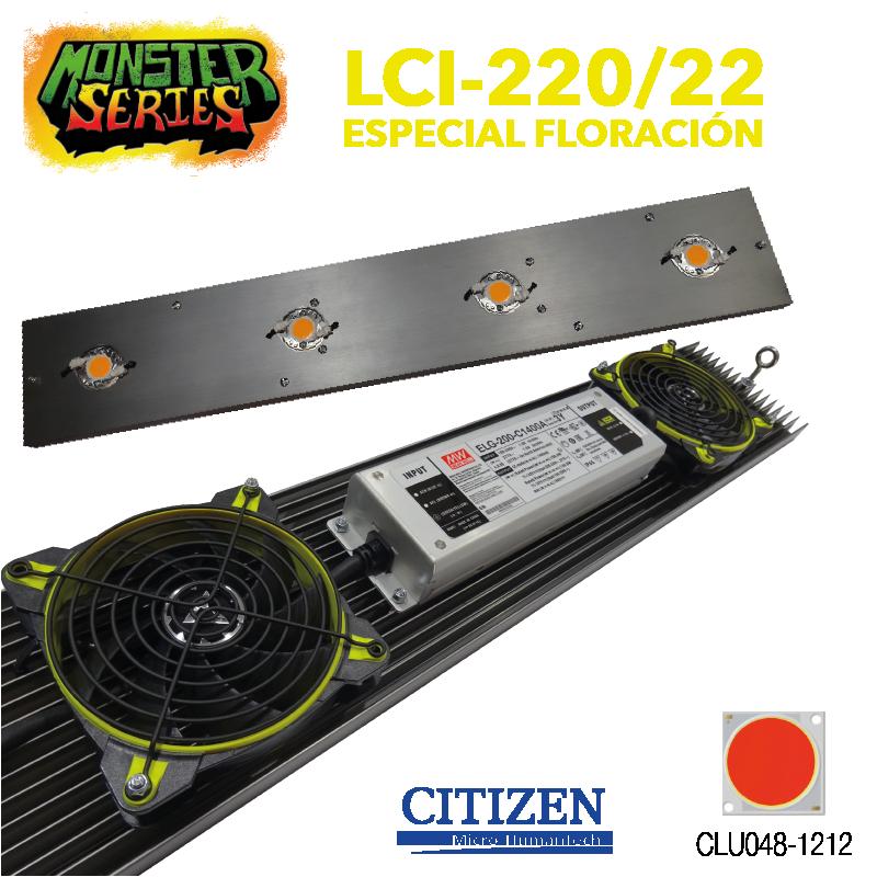 Luminaria LED Grow 220w 2200K (Monster Series) LED Grow