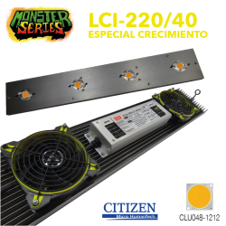 Luminaria LED Grow 220w 4000K (Monster Series)