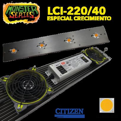 Luminaria LED Grow 220w 4000K (Monster Series) LED Grow