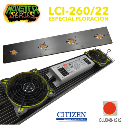 Luminaria LED Grow 260w 2200K (Monster Series)