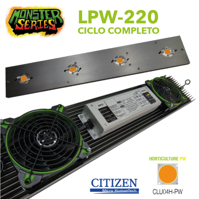 Luminaria LED Grow 220w PW (Monster Series) LED Grow