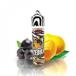 E-Liquid Fruitz Mango Blackcurrant 50ml 0mg (Booster) Zebra Juice