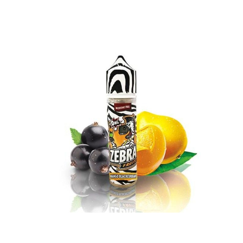 E-Liquid Fruitz Mango Blackcurrant 50ml 0mg (Booster) Zebra Juice ESENCIAS ZEBRA JUICE