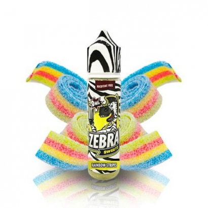 E-Liquid Sweetz Rainbow Strips 50ml 0mg (Booster) Zebra Juice OTRAS MARCAS