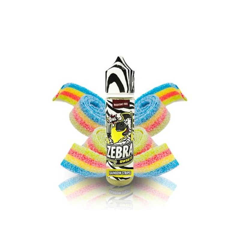 E-Liquid Sweetz Rainbow Strips 50ml 0mg (Booster) Zebra Juice OTRAS MARCAS