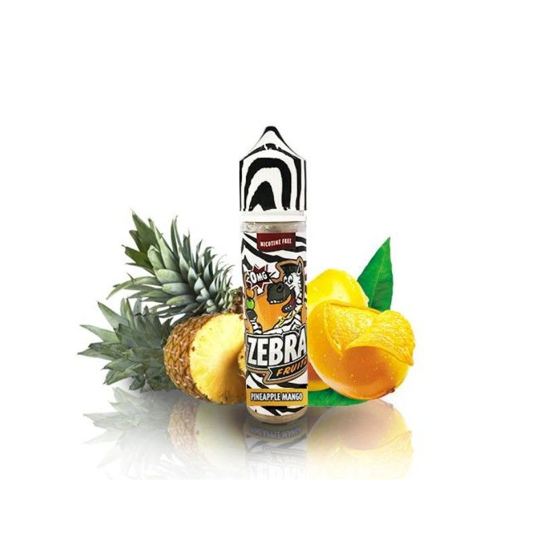 E-Liquid Fruitz Pineapple Mango 50ml 0mg (Booster) Zebra Juice OTRAS MARCAS