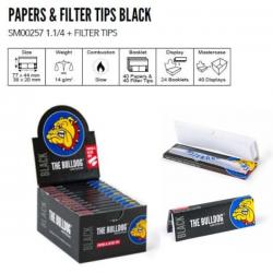 Papel Bulldog Black 1/4 con Tips Juicy Jay PAPEL VARIOS