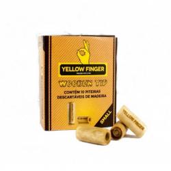 Filtros de madera Yellow Finger 10uds  BOQUILLAS Y FILTROS