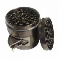Grinder Metal Depósito Con Ventana 63mm 4 partes  GRINDERS CON POLINIZADOR