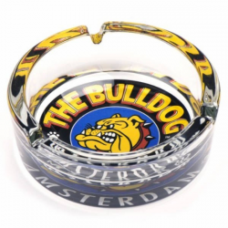 Cenicero Cristal Bulldog Colores  CENICEROS