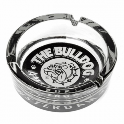 Cenicero Cristal Bulldog Blanco/Negro  CENICEROS