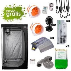 Kit LEC 315w con armario 240x120x200cm básico DARK BOX Cultivo con armario LEC