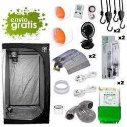 Kit LEC 315w con armario 120x120x200cm básico DARK BOX Cultivo con armario LEC