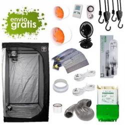 Kit LEC 315w con armario 100x100x200cm básico DARK BOX Cultivo con armario LEC