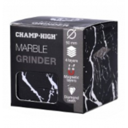 Grinder Mármol 4 partes 50mm Champ High  GRINDERS CON POLINIZADOR