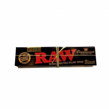 Papel RAW Black King size Connoisseur (1 librito) RAW PAPEL KING SIZE